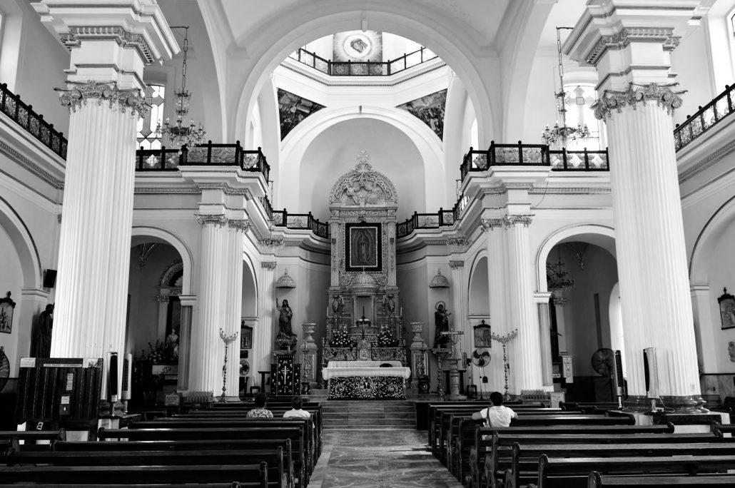 Bw Church Interior In Puerto Vallarta Jalisco Mexico St