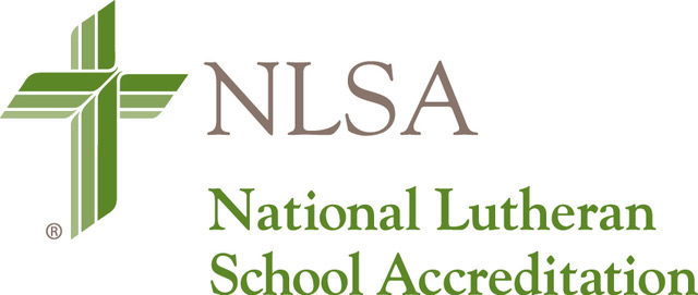 Cross with National Lutheran School Accreditation Logo (St Paul Lutheran School Catonsville)